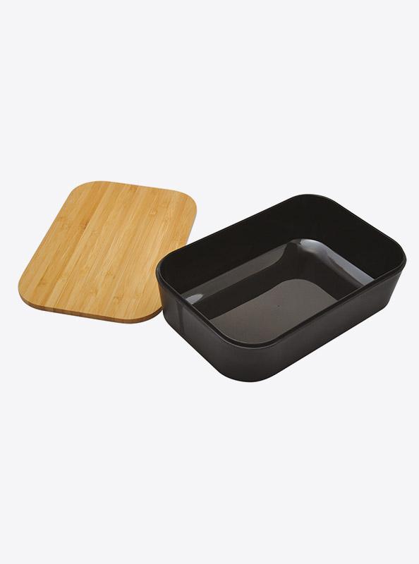 Lunchbox Akita Schwarz Bambus Mit Logo Kaufen