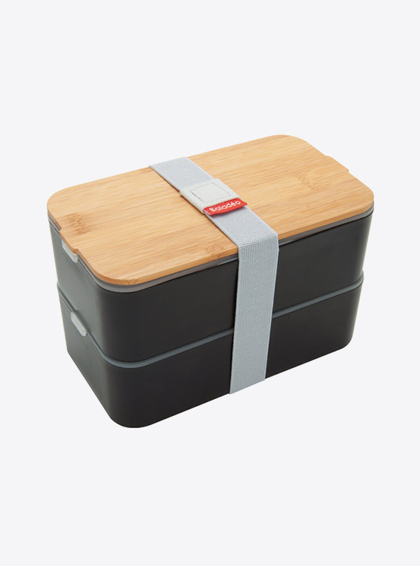 Lunchbox Bentobox Mihara Schwarz Mit Logo Motiv Bedrucken