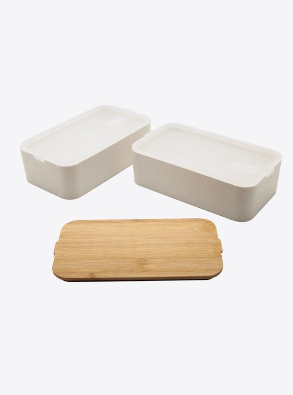 Lunchbox Bentobox Mihara Weizen Bambus Mit Logo Motiv Lasergravur