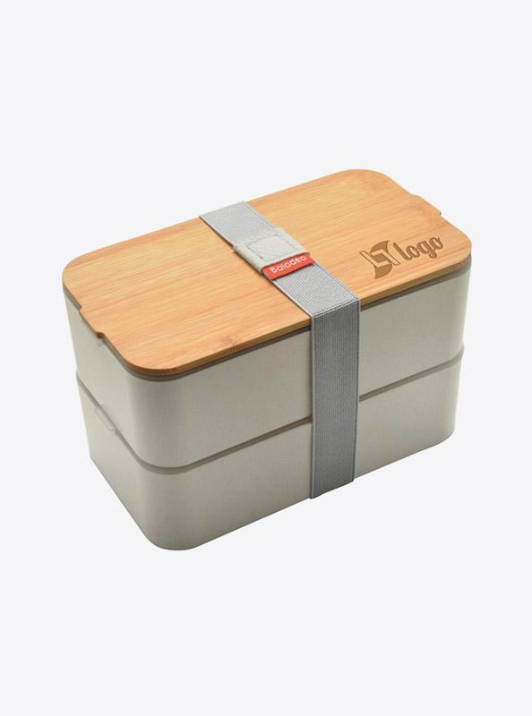 Lunchbox Bentobox Mihara Weizen Mit Logo Motiv Gravieren