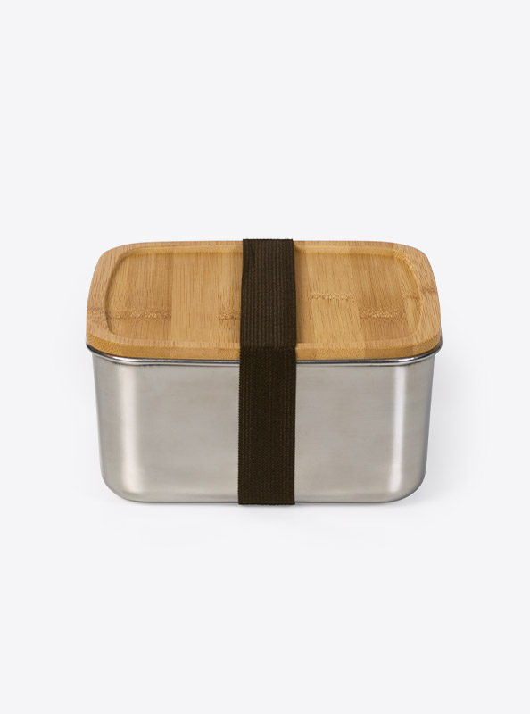 Lunchbox Deluxe Lasergravur Gross Front Bambus