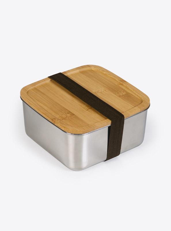 Lunchbox Deluxe Lasergravur Gross Seite Bambus