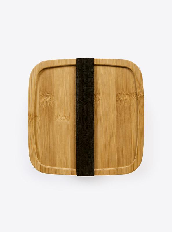 Lunchbox Deluxe Lasergravur Gross Top Bambus