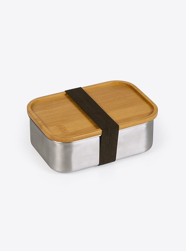 Lunchbox Deluxe Lasergravur Klein Seite Bambus