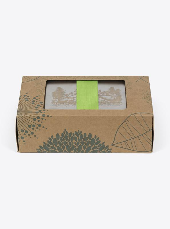 Lunchbox Edelstahl Laserdruck Mit Farbigen Zugband Verpackung