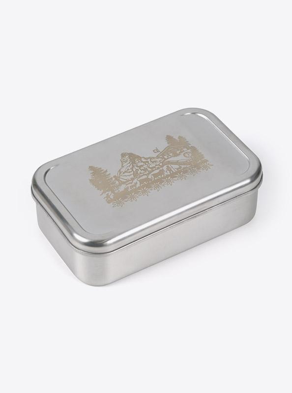 Lunchbox Edelstahl Laserdruck Praegung