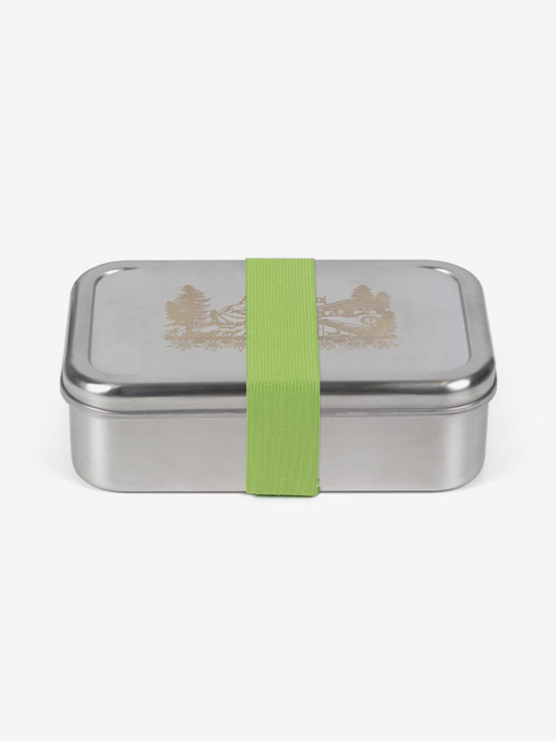 Lunchbox Edelstahl Mit Farbigen Zugband