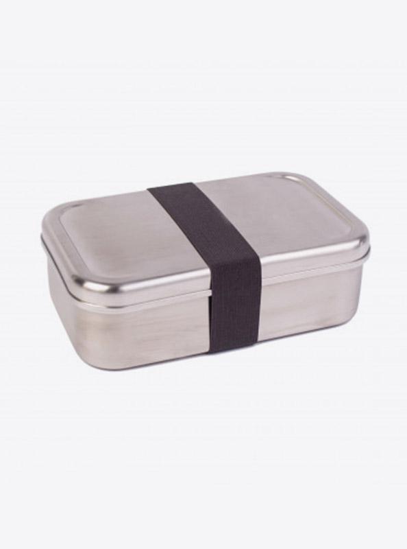 Lunchbox Edelstahl Textilband Anthrazit