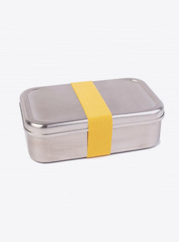 Lunchbox Edelstahl Textilband Gelb