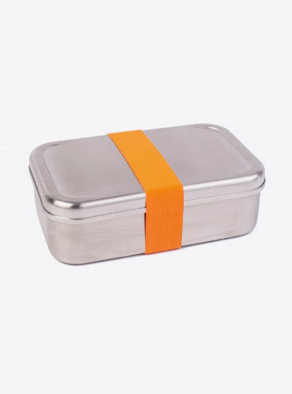 Lunchbox Edelstahl Textilband Orange
