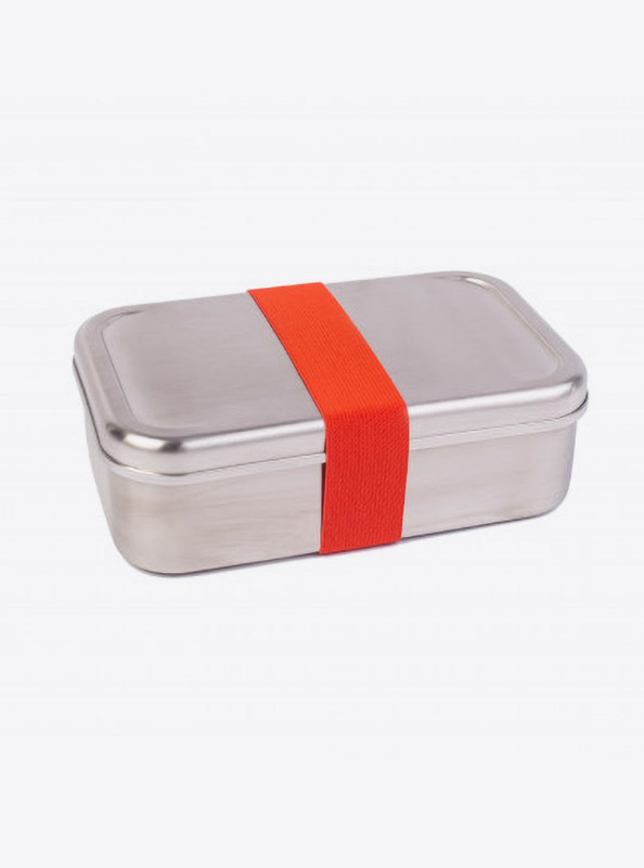 Lunchbox Edelstahl Textilband Rot