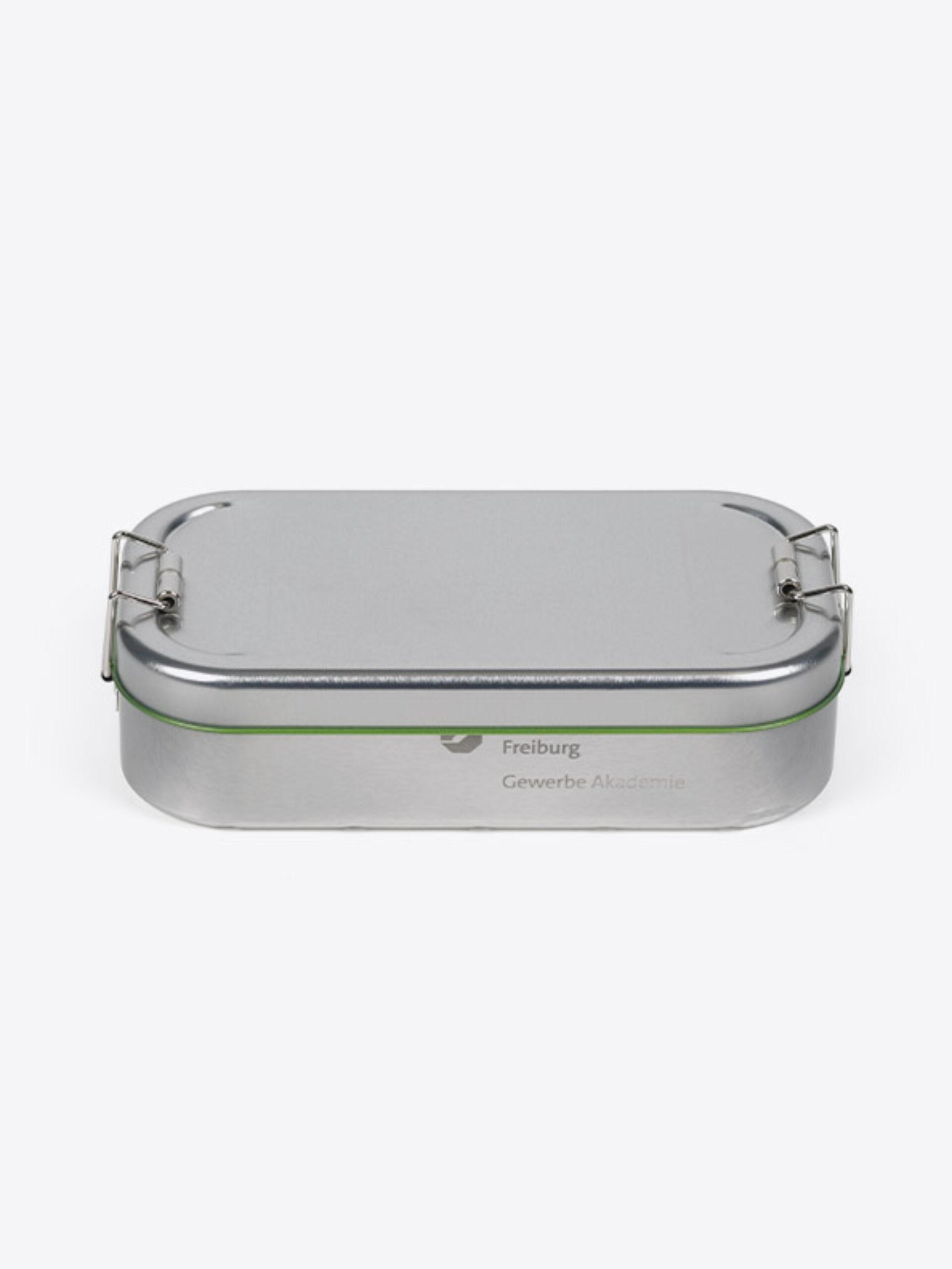 Lunchbox Green Mit Logo Praegung Lasergravur Zurich
