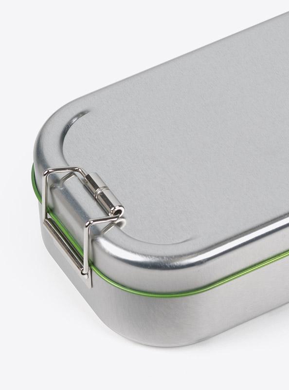 Lunchbox Green Mit Logo Praegung Lasergravur