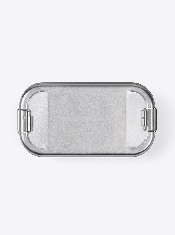 Lunchbox Silber Bedrucken Praegen Druck Lasergravur
