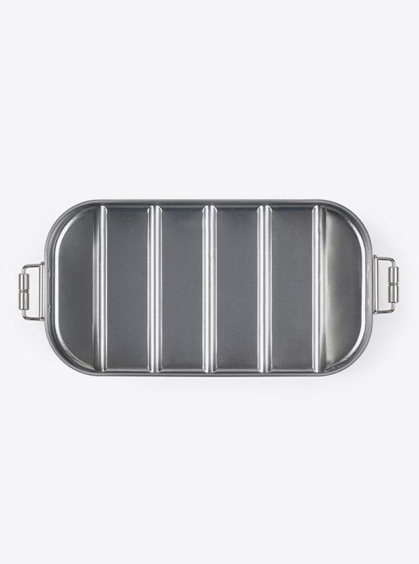 Lunchbox Silber Bedrucken Praegung Lasergravur Kaufen
