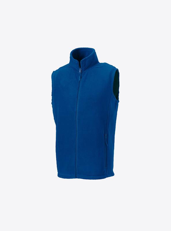 Maenner Weste Aus Fleece Besticken Russell 870m Farbe Royal Blue
