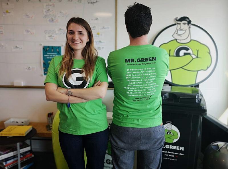 Mit Logo Bedruckte T Shirt Mr Green