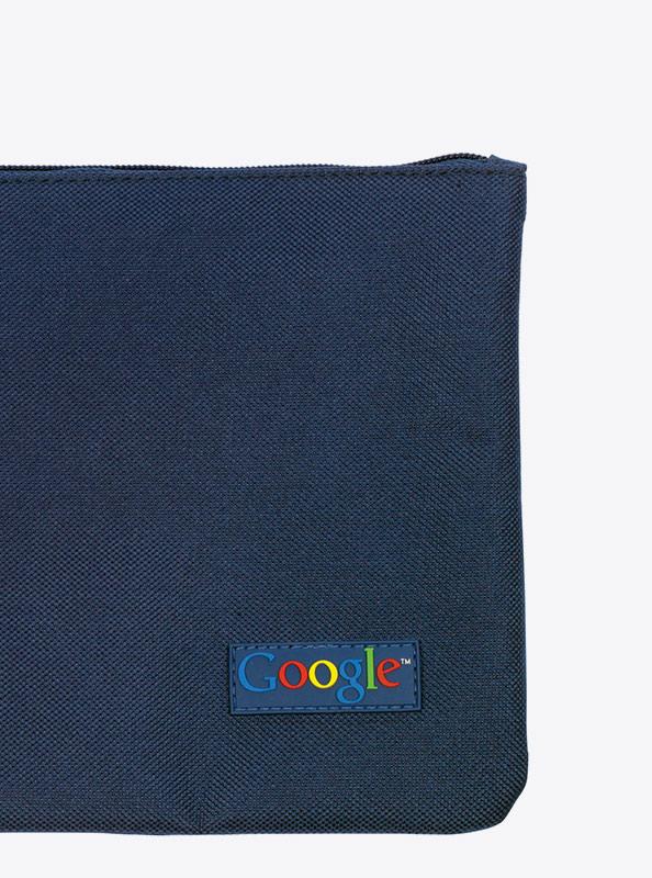 Necessaire mit PVC Etikette für Google