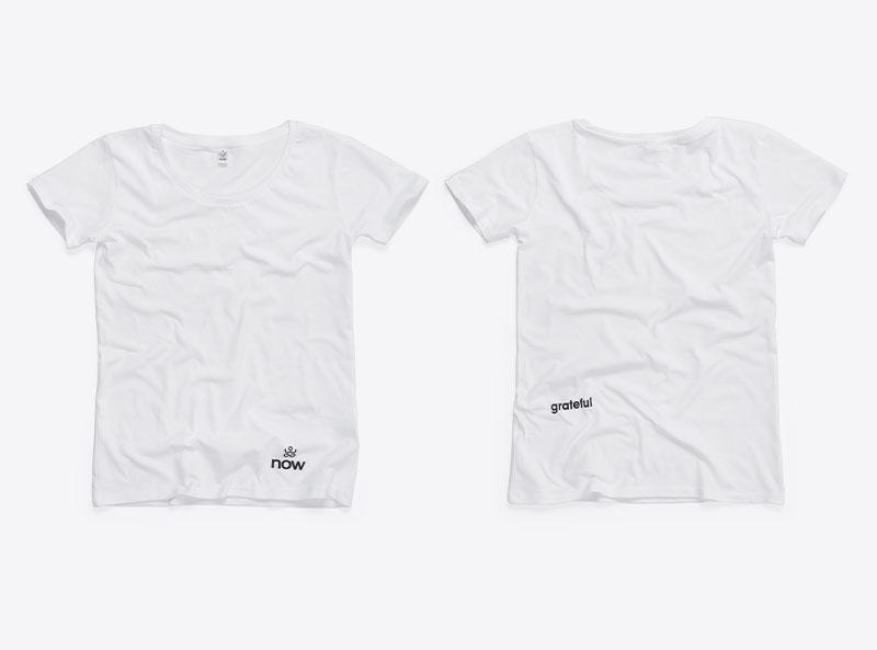 Now Meditation Tshirt Mit Logo Bedruckt