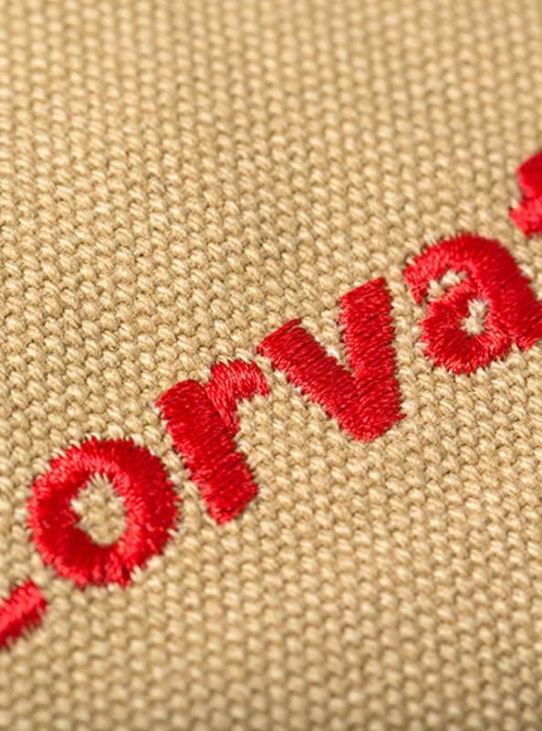 Retro Rucksack Besticken Mit Logo