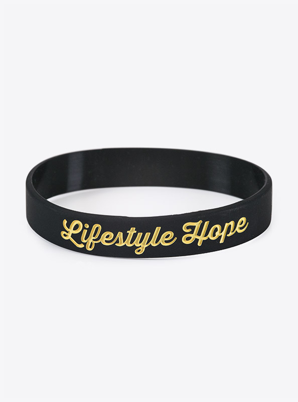 Silikon Armband Bedruckt Lifestyle Hope