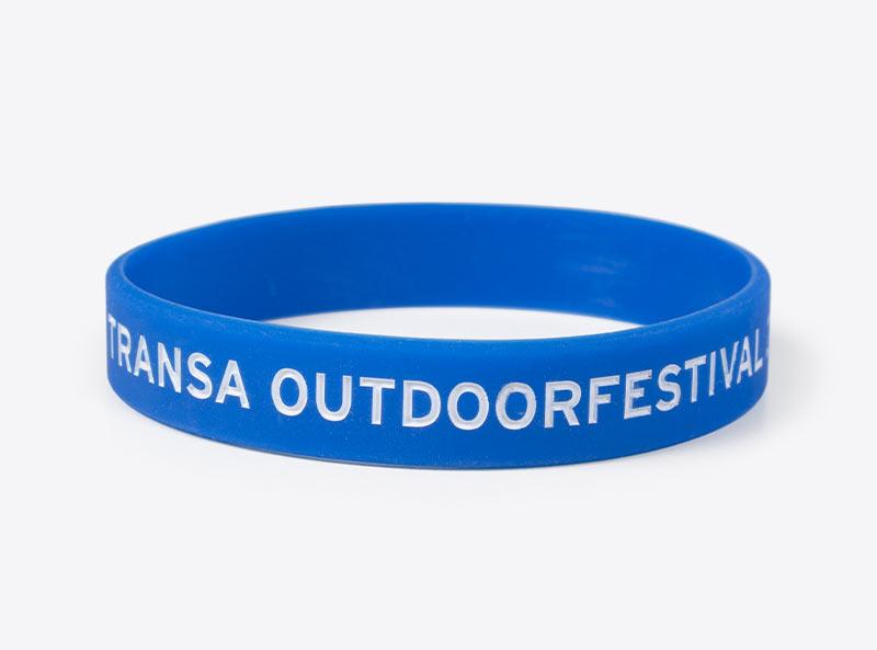Silikonarmband Transa Outdoorfestival Bedruckt