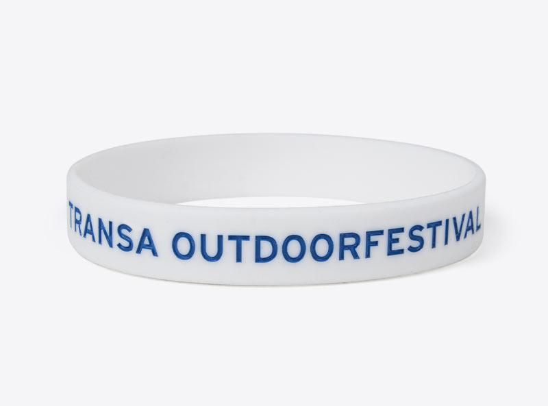 Silikonarmband Transa Outdoorfestival Logo Bedruckt
