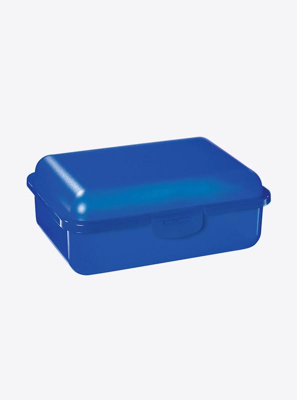 Snackbox Lunchbox Budget Mit Logo Motiv Bedrucken Blau Transparent
