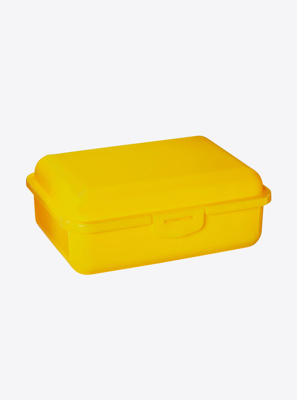 Snackbox Lunchbox Budget Mit Logo Motiv Bedrucken Gelb