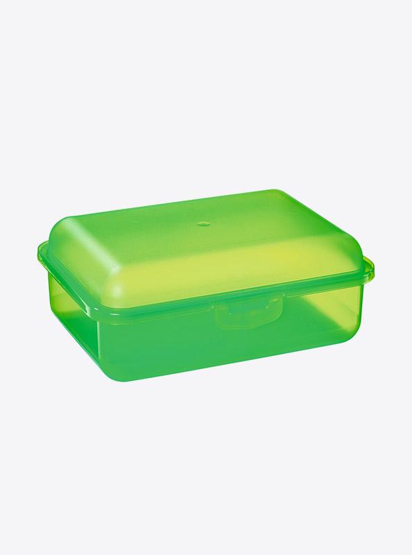 Snackbox Lunchbox Budget Mit Logo Motiv Bedrucken Gruen Transparent