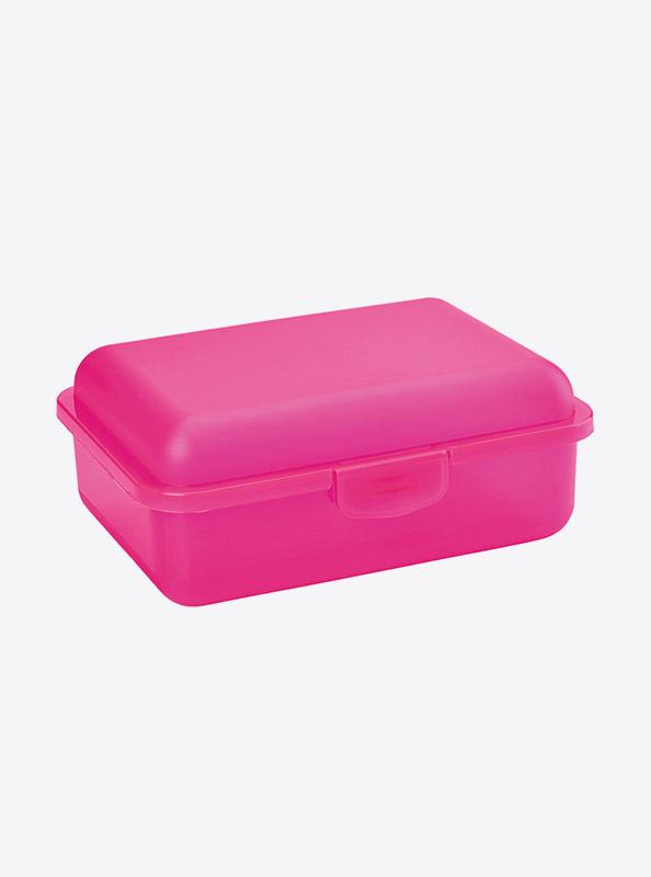 Snackbox Lunchbox Budget Mit Logo Motiv Bedrucken Pink Transparent