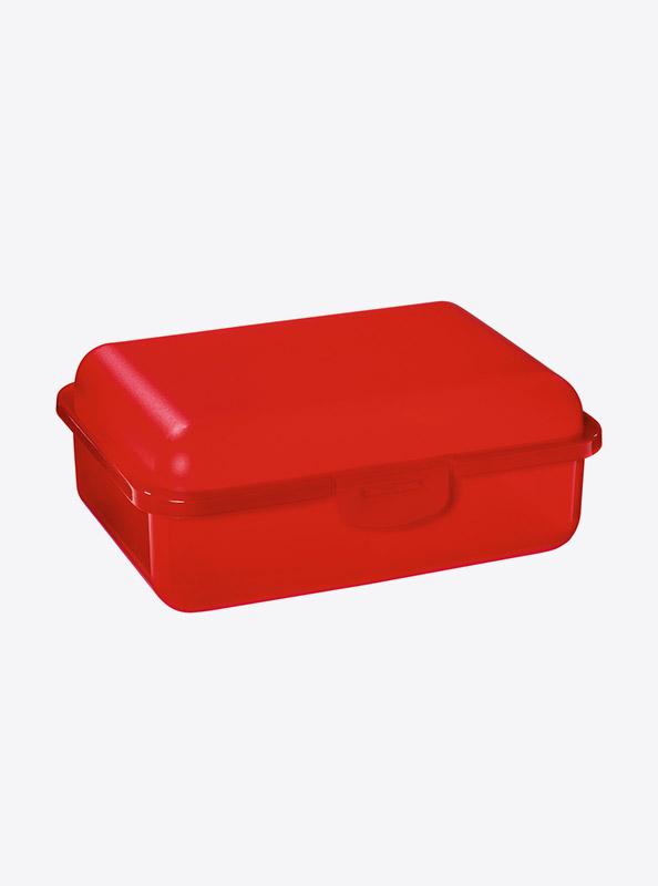 Snackbox Lunchbox Budget Mit Logo Motiv Bedrucken Rot Transparent
