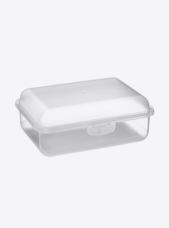 Snackbox Lunchbox Budget Mit Logo Motiv Bedrucken Weiss Transparent