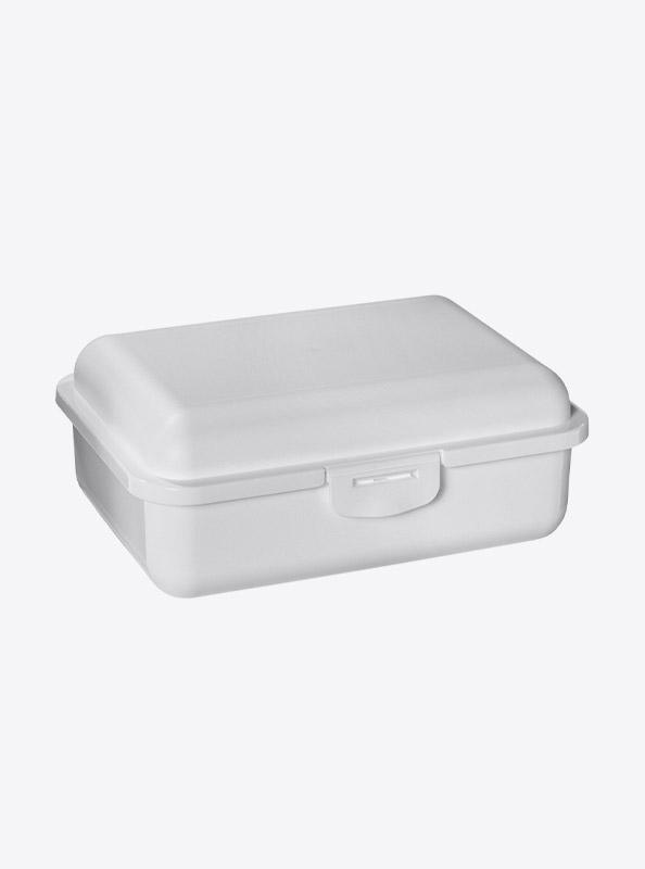 Snackbox Lunchbox Budget Mit Logo Motiv Bedrucken Weiss