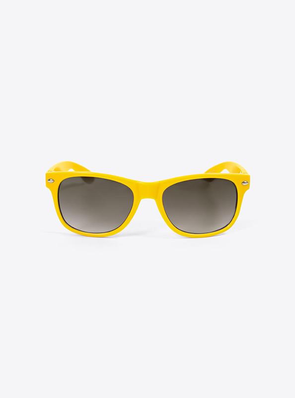 Sonnenbrille Budget Gelb Mit Logo Bedrucken
