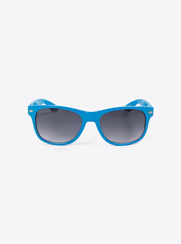 Sonnenbrille Budget Hellblau Mit Logo Bedrucken