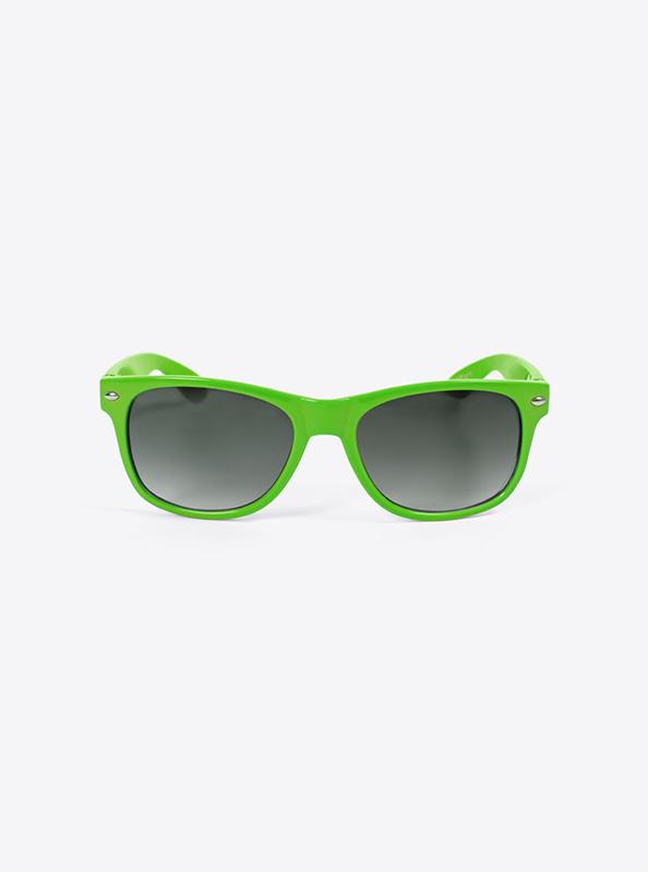 Sonnenbrille Budget Hellgruen Mit Logo Bedrucken