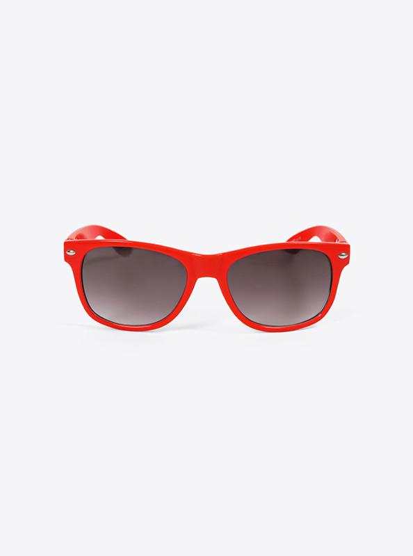 Sonnenbrille Budget Rot Mit Logo Bedrucken