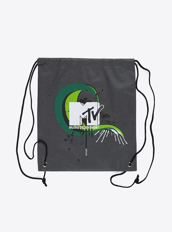 Sportsack Gym Bag Vlies Bedruckt Mtv