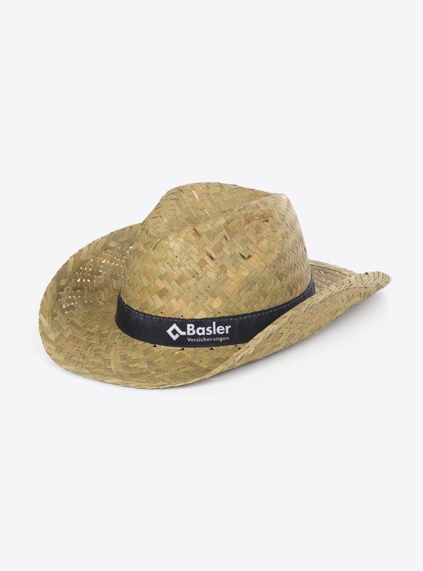 Strohhut Cowboy Hut Give Away Bedruckt Baslerversicherung