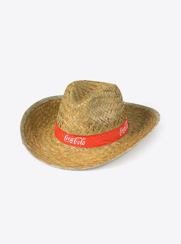 Strohhut Cowboy Hut Give Away Bedruckt Cocacola