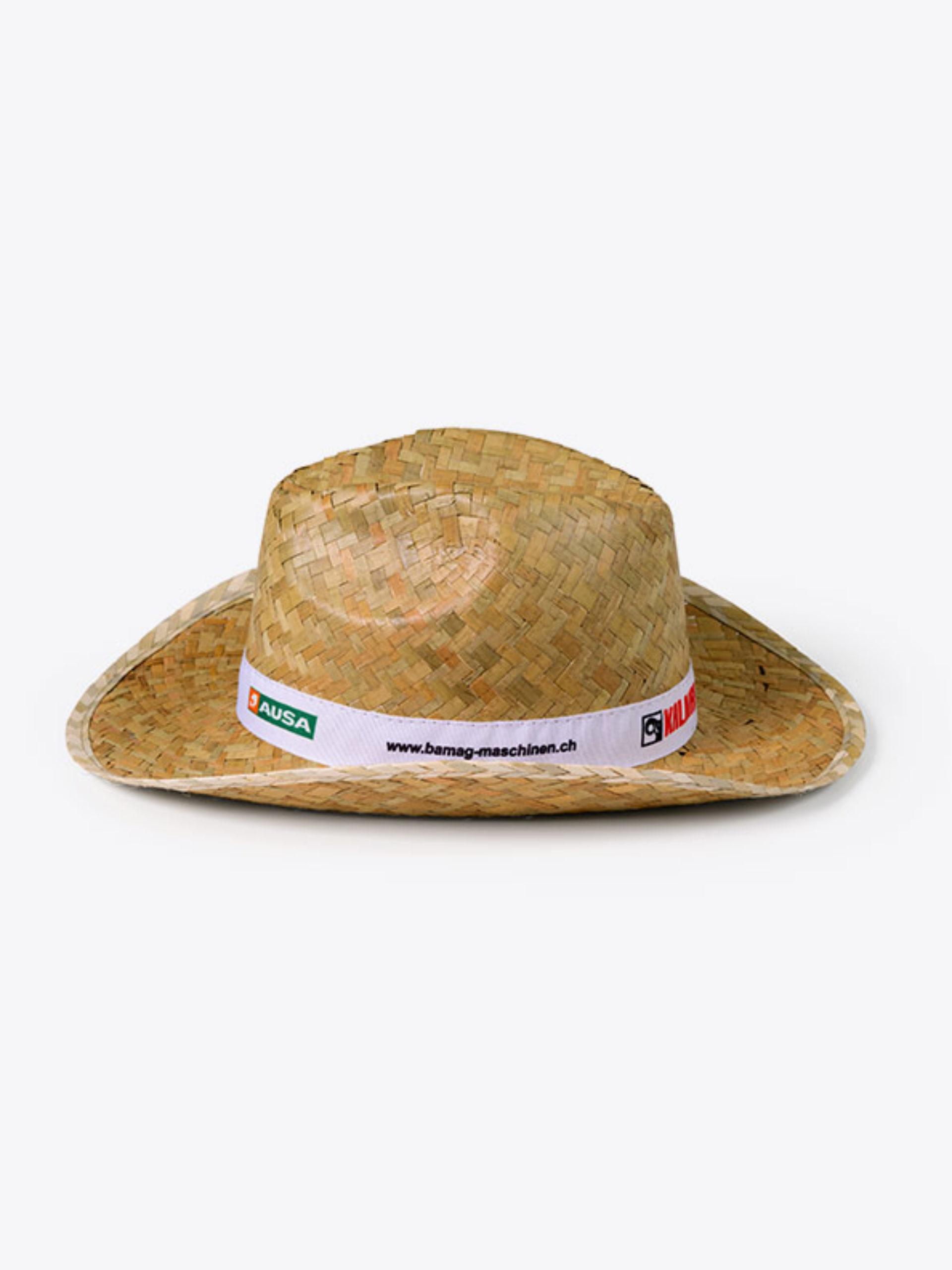 Strohhut Cowboy Mit Logo Bedrucken