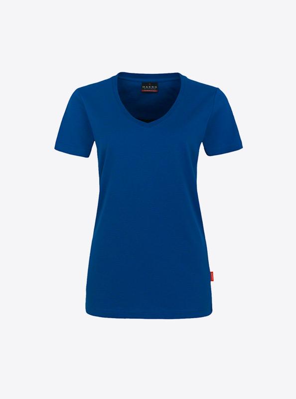 T Shirt Fuer Damen Mit Logo Drucken Lassen Hakro 181 Ultramarineblau