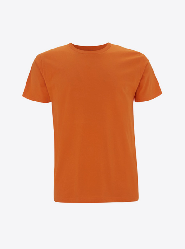 T Shirt Herren Individuell Bedrucken Mit Logo Earth Positive Ep01 Orange