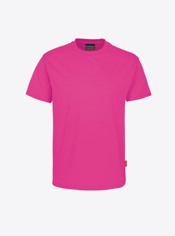 T Shirt Herren Mit Logo Drucken Hakro 281 Preformance Magenta