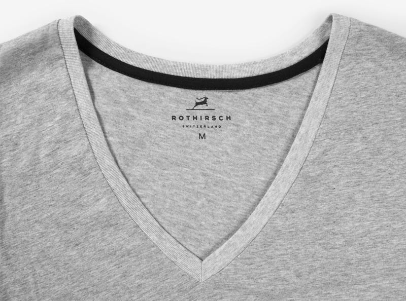 T Shirt Sonderanfertigung Kontrastband Nacken