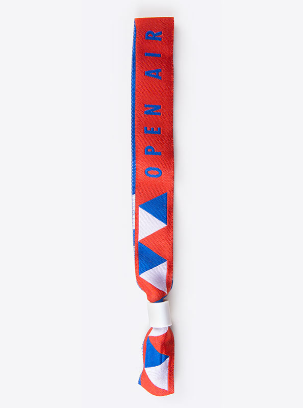 Textilband Logo Gewoben Openair
