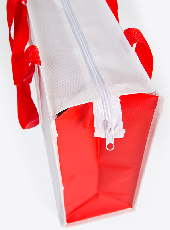 Tragtasche Vlies Laminiert Mit Reisverschluss Bedrucken