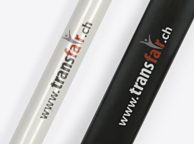 Transfair Kugelschreiber Mit Logo Bedrucken Zuerich
