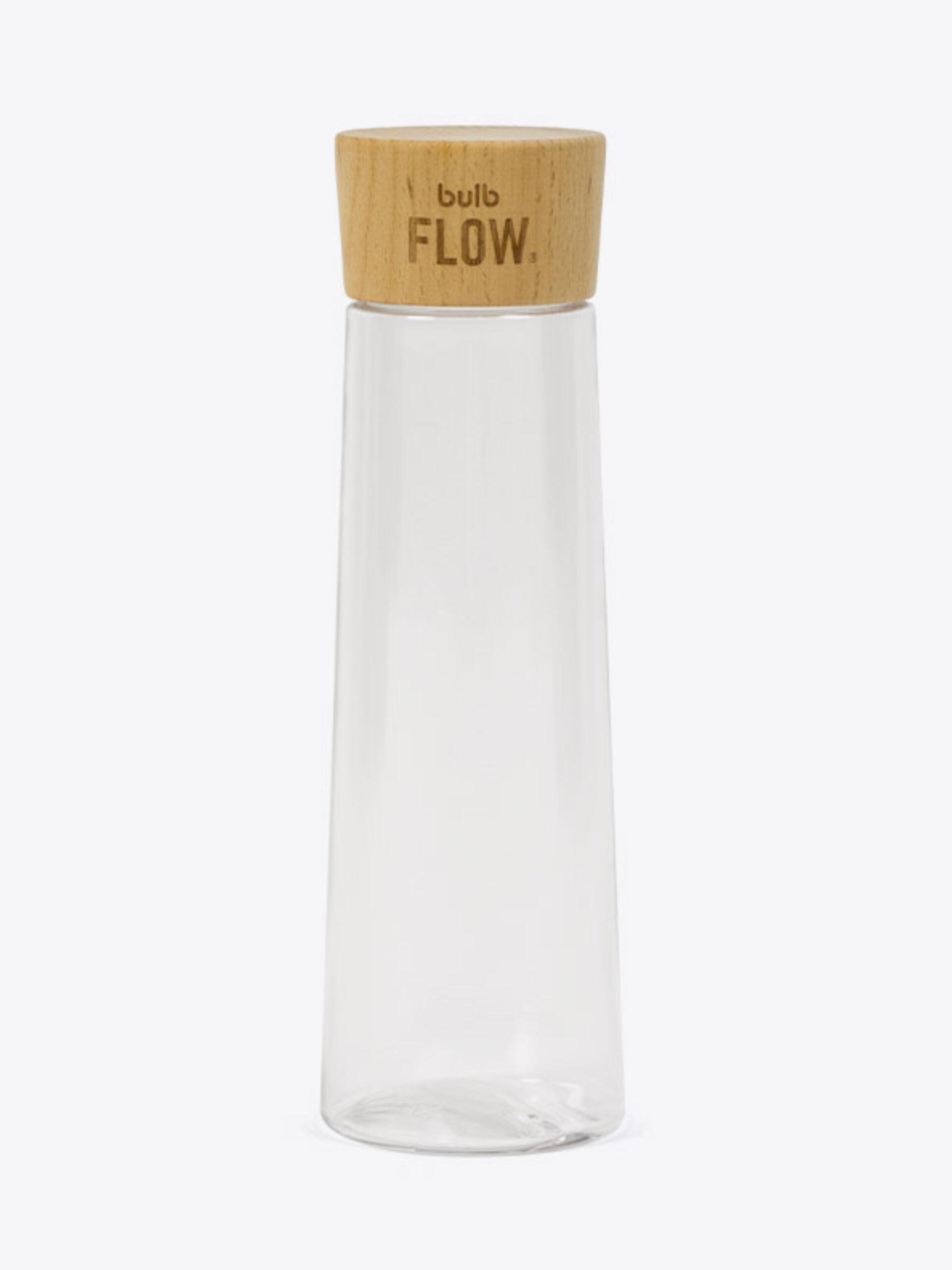 Trinkflasche Bulb Flow Mit Logo Gravierung Holzdeckel